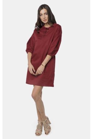Платье «Мирти» винного цвета