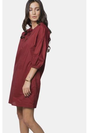 Сукня «Мірті» винного кольору