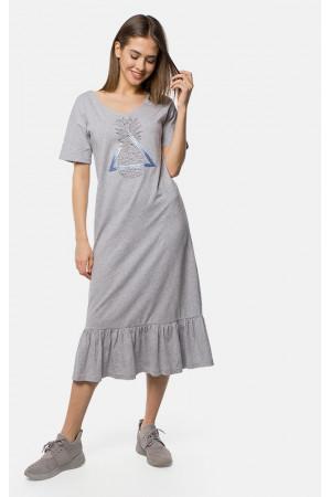 Платье «Вейла» серого цвета