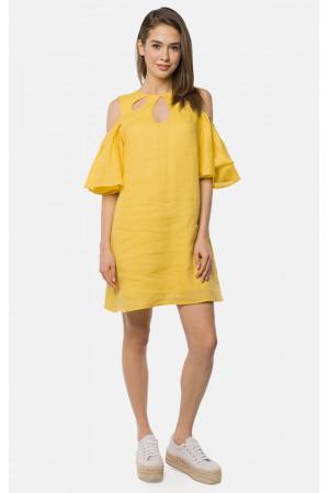 Платье «Лизетт» желтого цвета