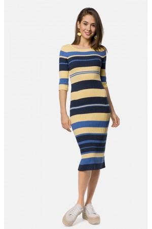 Платье «Бриско» желтого цвета