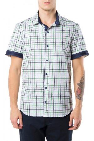 Мужская рубашка «Филип» темно-синяя клетка