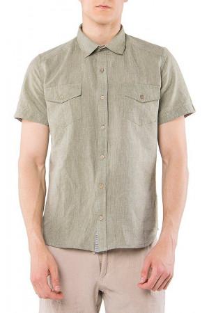Мужская рубашка «Итан» оливкового цвета