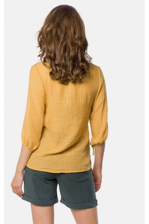 Блуза «Леона» коричневого цвета