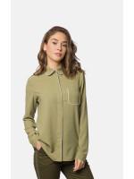 Блуза «Савана» оливкового кольору