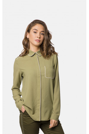 Блуза «Саванна» оливкового цвета