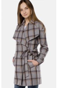 """Пальто жіноче """"Амалі"""" сірого кольору"""