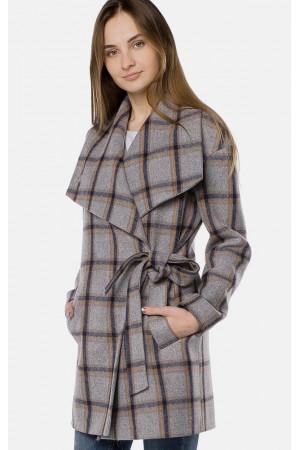 """Пальто женское """"Амали"""" серого цвета"""