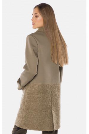"Пальто жіноче ""Таяна"" кольору хакі"