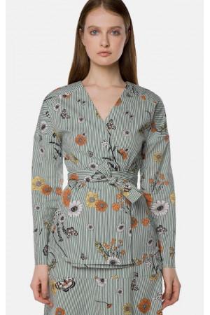 Блуза «Ерлін» зеленого кольору