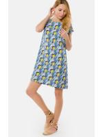 Платье «Сабрина» синего цвета