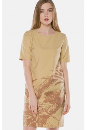 Платье «Шайн» желтого цвета