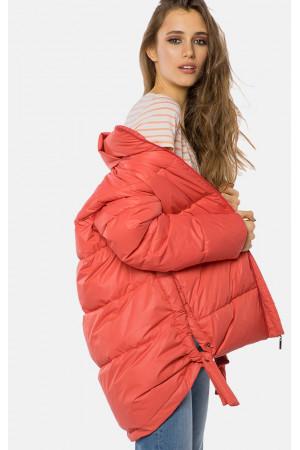 """Жіноча куртка """"Доріс"""" коралового кольору"""