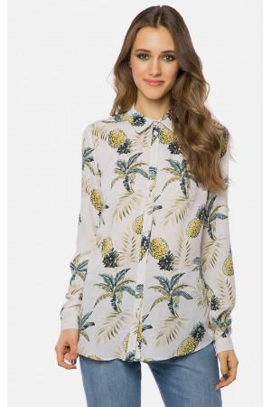 Блуза «Келлі» білого кольору з малюнком