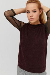 Блуза «Демі» шоколадного кольору