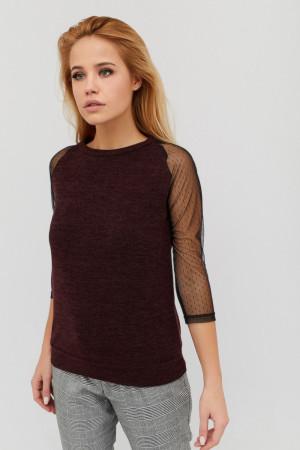 Блуза «Деми» шоколадного цвета