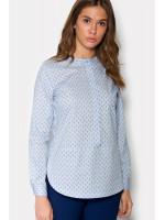 Блуза «Фло» голубого цвета