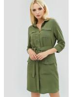 Сукня «Нівела» оливкового кольору