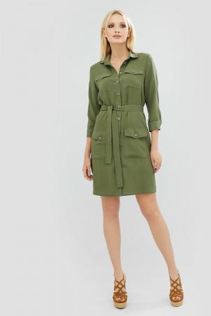 Платье «Нивела» оливкового цвета