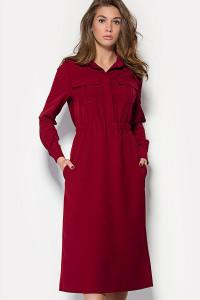 Платье «Бостон» бордового цвета