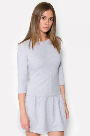 Платье «Нед» серый меланж