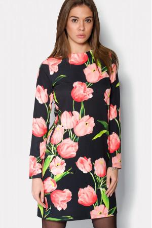 Сукня «Лаурель» чорно-рожева