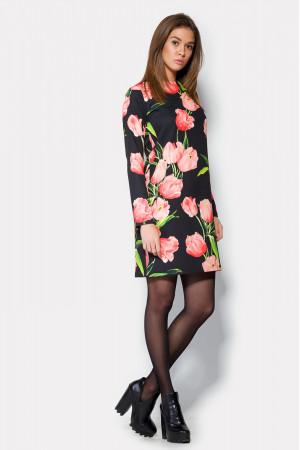 Платье «Лаурель» черно-розовое