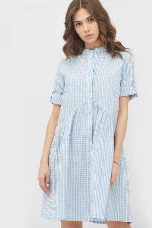 Платье «Новео» бело-голубого цвета