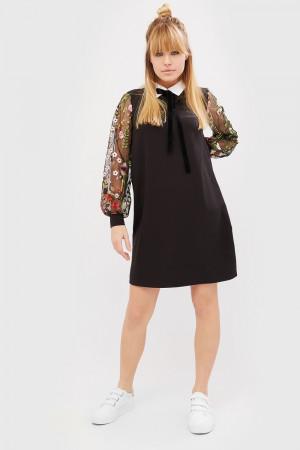 Платье «Линс» черного цвета