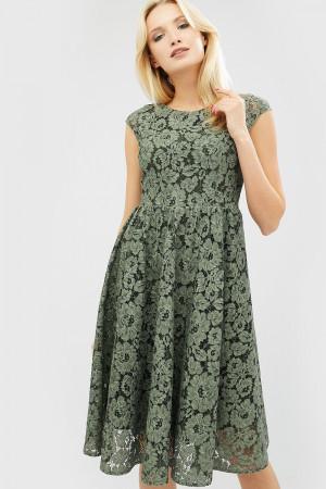 Платье «Мелин» оливкового цвета