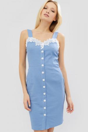 Платье «Авидо» голубого цвета