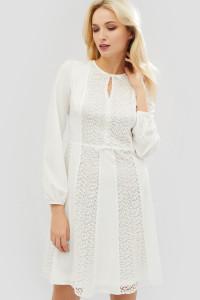 Платье «Фрай» молочного цвета