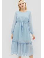 Платье «Кайго» голубого цвета