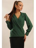 Блуза «Жанін» зеленого кольору