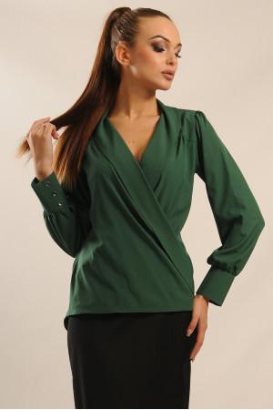 Блуза «Жанин» зеленого цвета