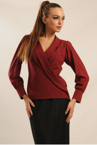 Блуза «Жанин» вишневого цвета