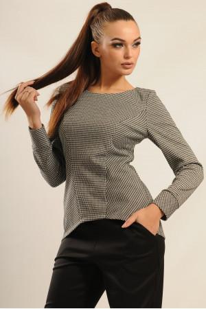 Блуза «Шарлен» светло-серого цвета