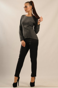 Блуза «Шарлен» темно-серого цвета