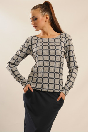 Блуза «Сити-Зима» серого цвета
