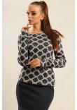 Блуза «Сіті-Зима» сірі ромби