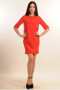 Платье «Горчица» красного цвета