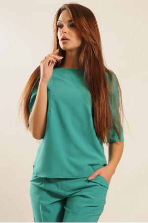 Блуза «Горчица» зеленого цвета