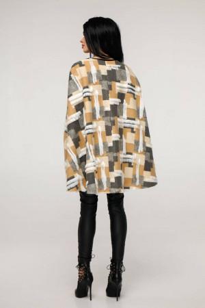 Женское пончо «Эстель» серо-бежевого цвета