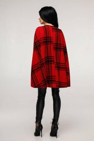 Женское пончо «Эстель» красного цвета