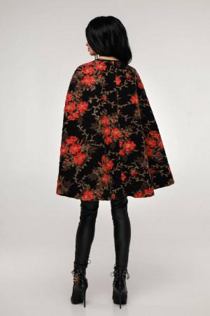 Женское пончо «Эстель» черного цвета