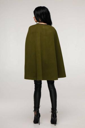 Женское пончо «Эстель» оливкового цвета