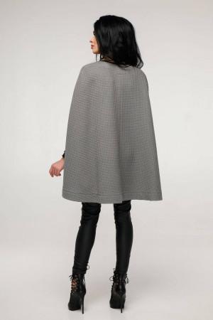 Женское пончо «Эстель» серого цвета