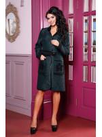 Жіноче пальто-кардиган «Флосі» зеленого кольору