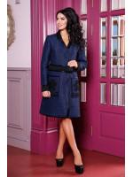 Жіноче пальто-кардиган «Флосі» темно-синього кольору