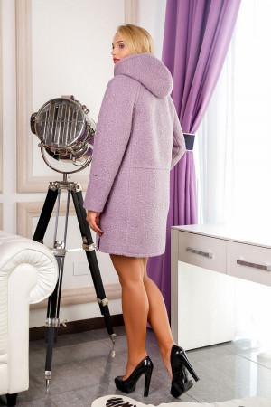 Жіноче пальто «Кордова» бузкового кольору